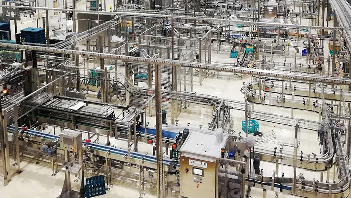 Автоматизированная упаковочная линия, разработанная компанией Technica International. Изображение предоставлено Technica International