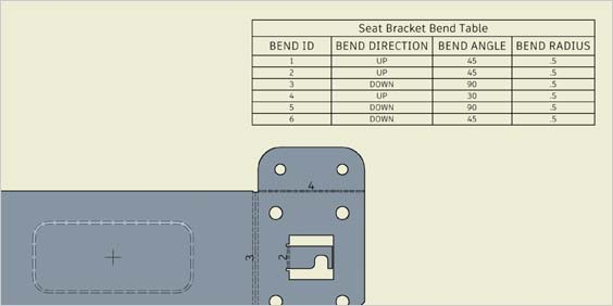 Automatically generate bend tables for manufacturing