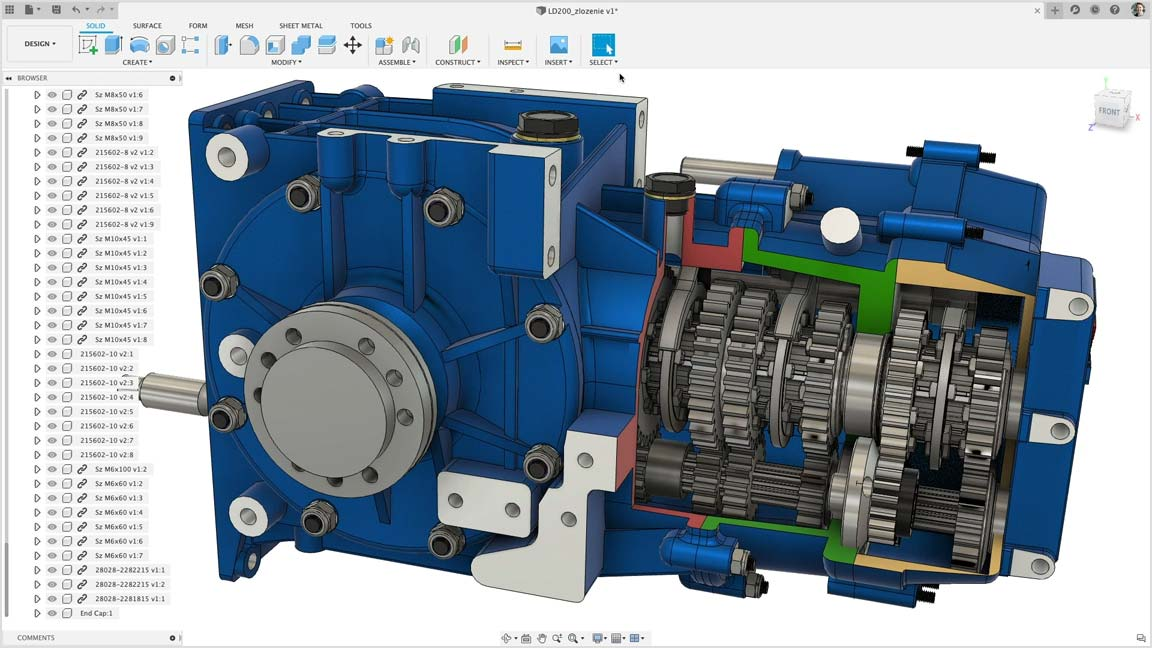 Direct modeling with Fusion 360