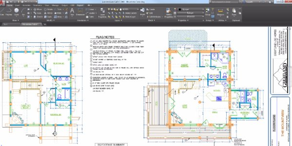 AutoCAD 2D drafting program