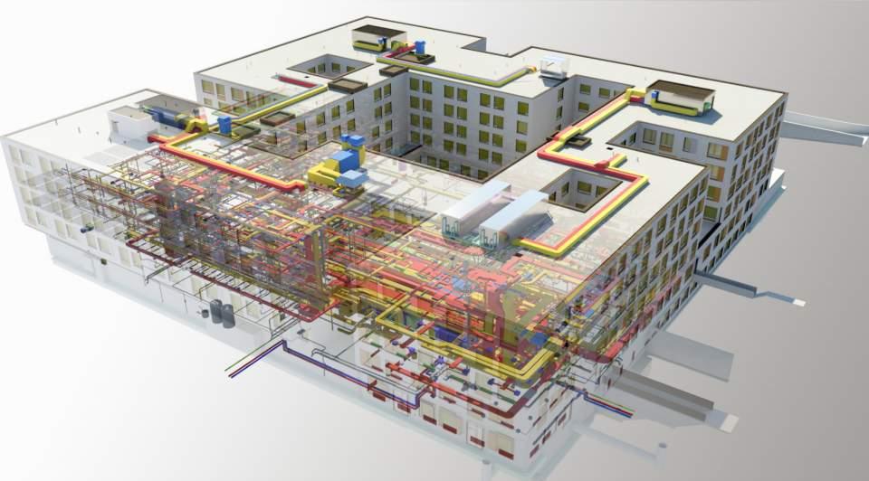BIM Visualisierung des Felix-Platter-Spitals in Basel (c) BAM Swiss AG