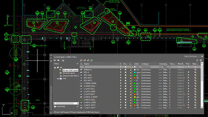 Landscape design in AutoCAD for Pinterest