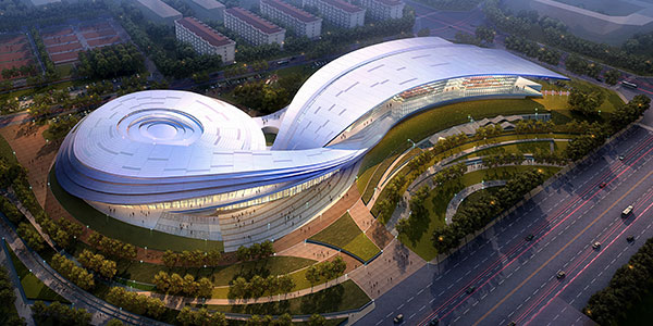 architecture building design. Hohhot City National Fitness Center Architecture Building Design