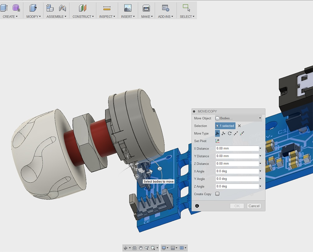Fusion 360 and EAGLE workflow for ECAD to MCAD