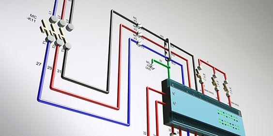 Renderización de un circuito de control eléctrico