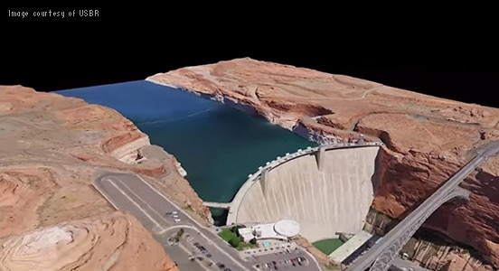 Reality capture of Glen Canyon Dam