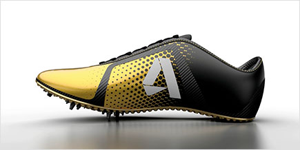 Autodesk rendering of athletic shoe