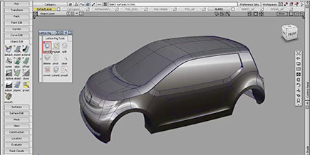 Rendering di un'automobile in Alias