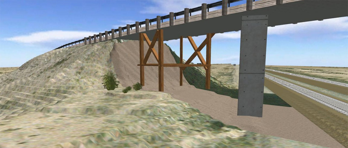 New Mexico DOT bridge with BIM