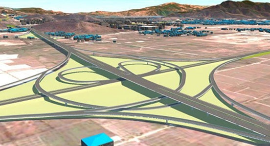 SCODI 3d project model of highway