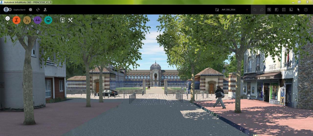 Parc Princesse, Visualisierung des Haupteingangs