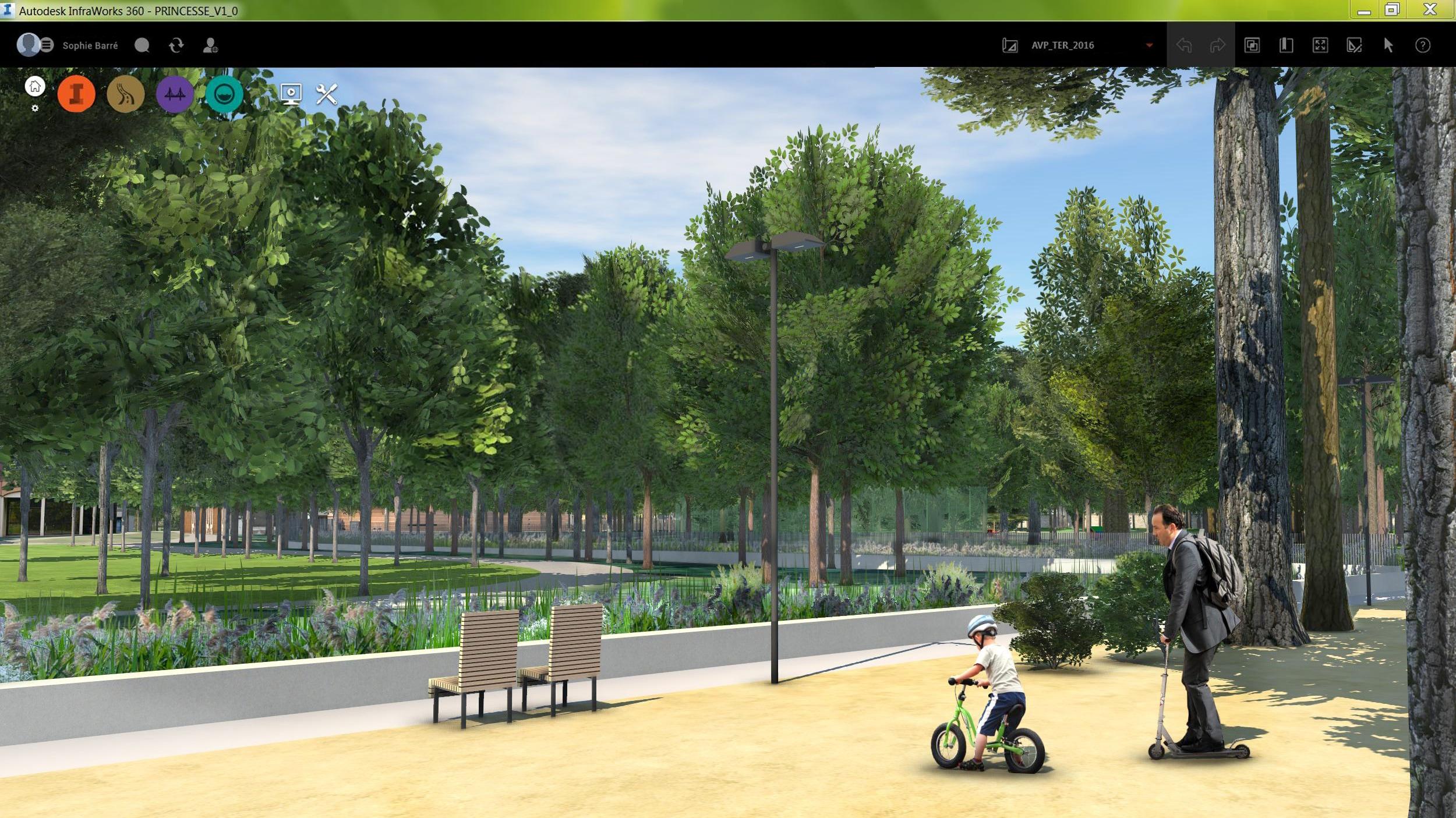 Die Esplanade des Parc Princesse