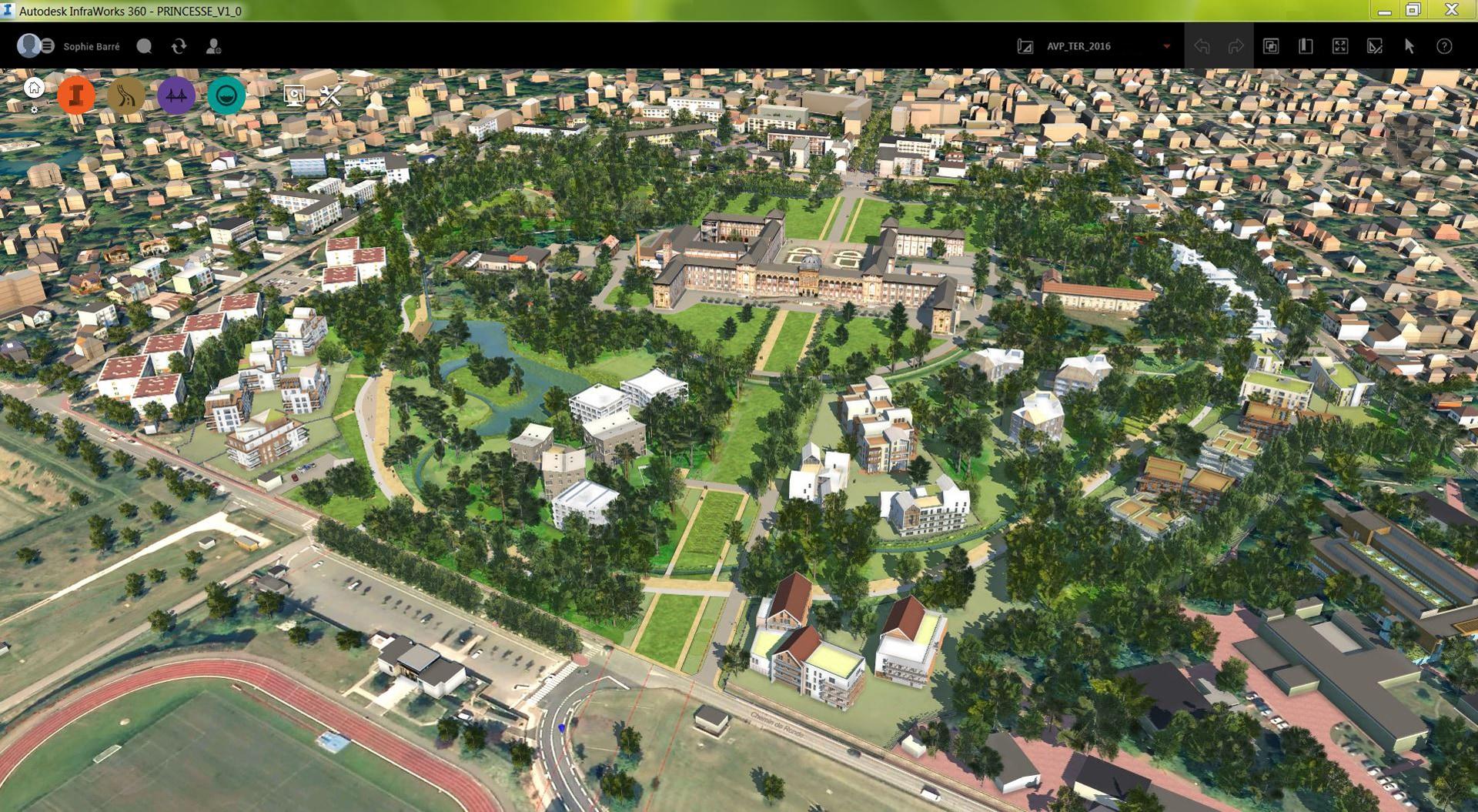 Überblick über den Parc Princesse