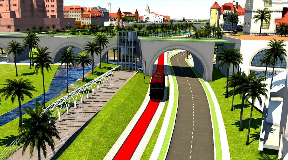 Analisi visiva VR del tram