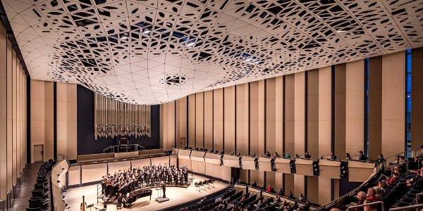 image of University of Iowa's Voxman School of Music concert hall