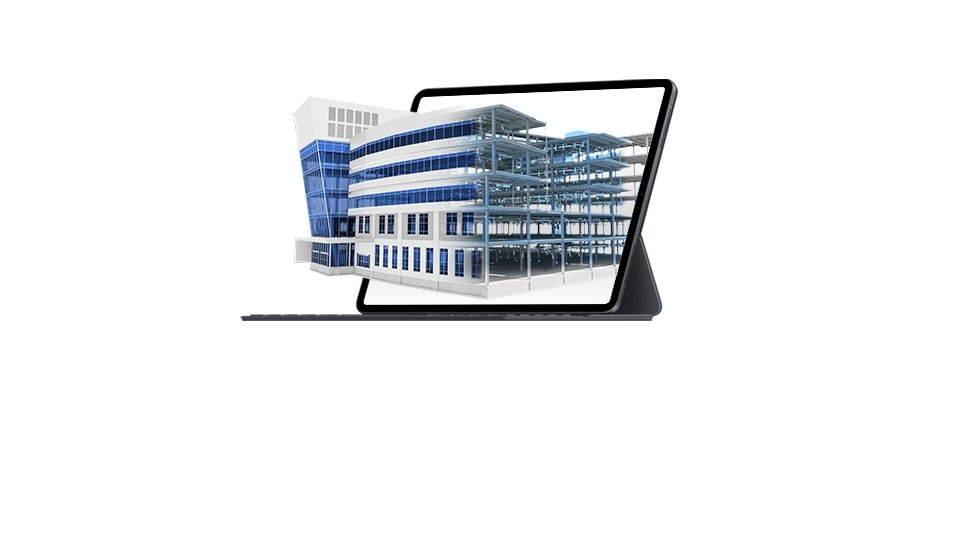 image of device with building design