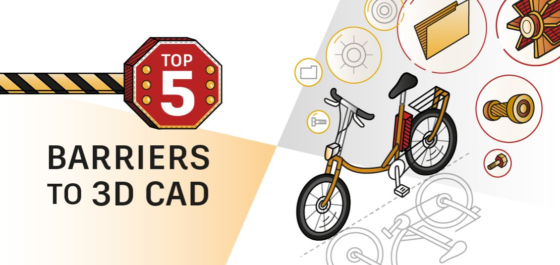 Infographic: Top 5 barriers to 3D CAD
