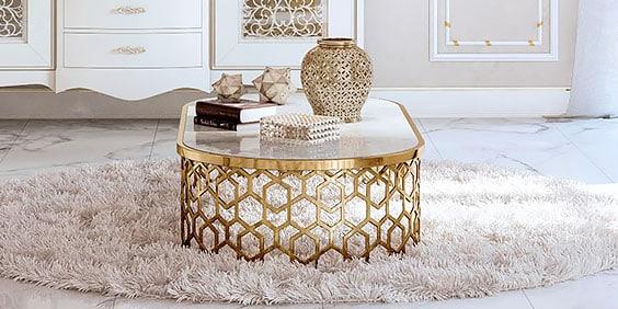 Renderización de una mesa de centro hexagonal