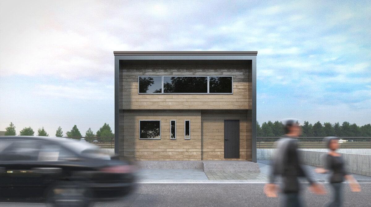 [3ds Max チュートリアル] 3D 建築 での魅力的な建築パース・建築ビズの作り方 1: 3D モデリング: 何の変哲もない「一軒家の外観」