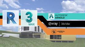 [3ds Max チュートリアル] 3D 建築 での魅力的な建築パース・建築ビズの作り方 3: Revit データを 3ds Max で利用するための3D ビジュアル化手法