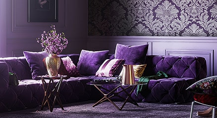 purple inspired interior design