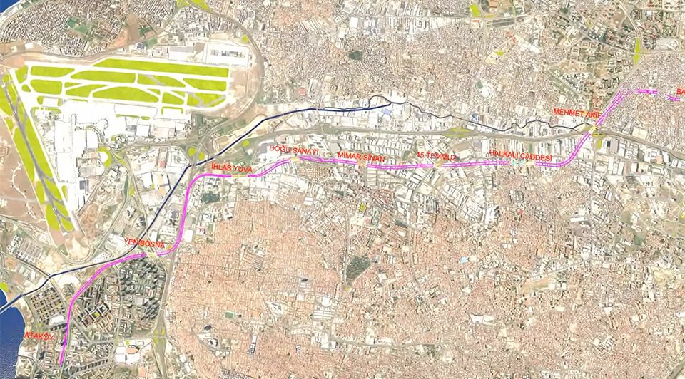 An overview of the Atakoy – Ikitelli metro line project