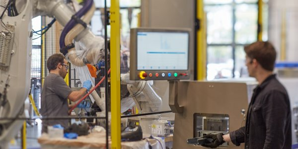 The Autodesk Technology Center Boston is an innovation space for digital fabrication in the building industry.