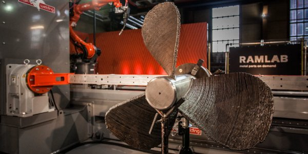 Port of Rotterdam's RAMLAB reveals hybrid manufactured ship propeller. This includes 3D printing large ship components in metal and then finishing the pieces using traditional CNC milling and grinding methods.