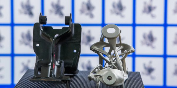 General Motors uses generative design and additive manufacturing to design a functional, lightweight seat bracket.