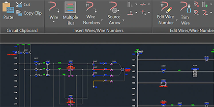 AutoCAD elektrik sistemi çizimi