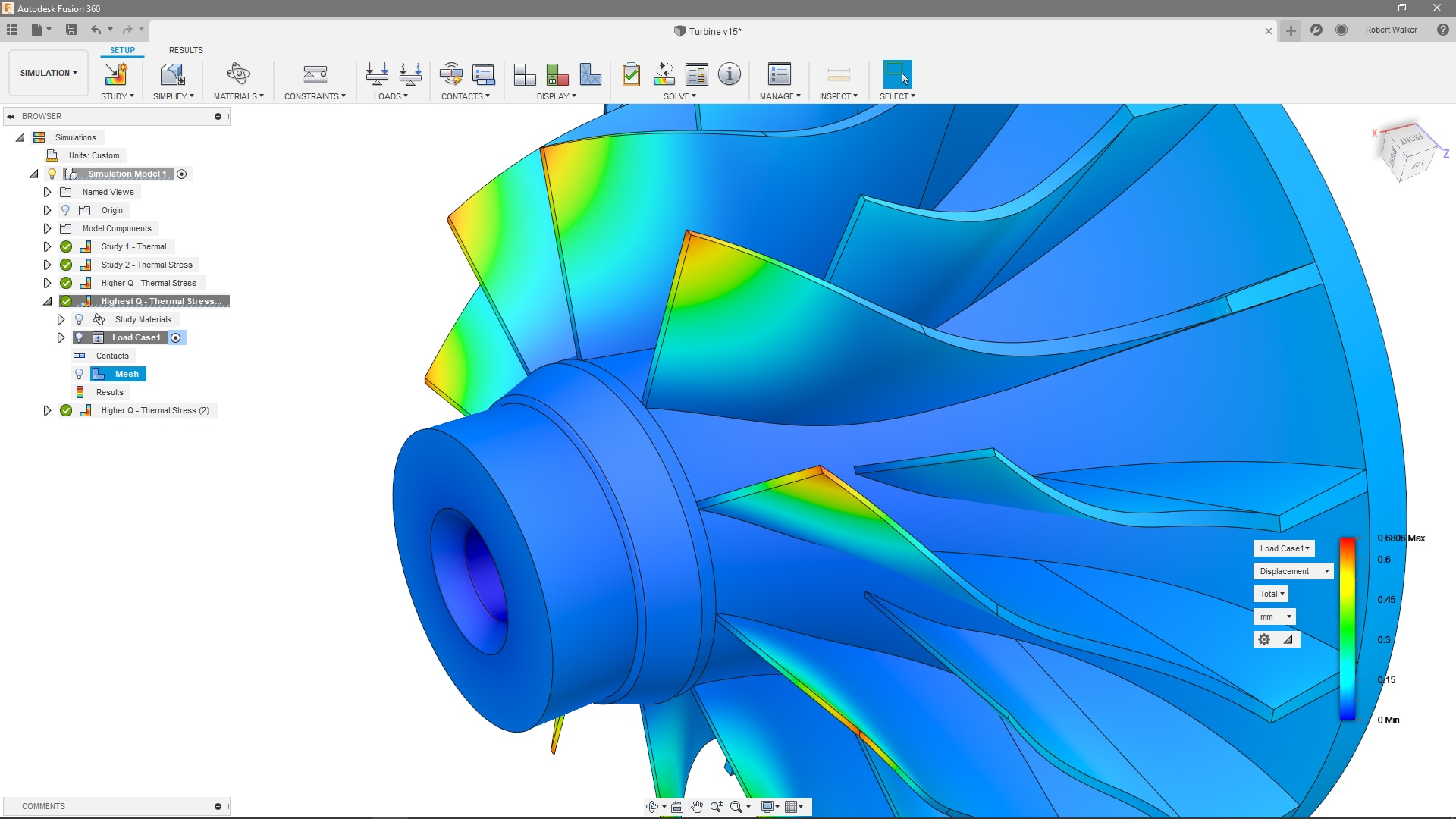 Simulation functionality in Fusion 360
