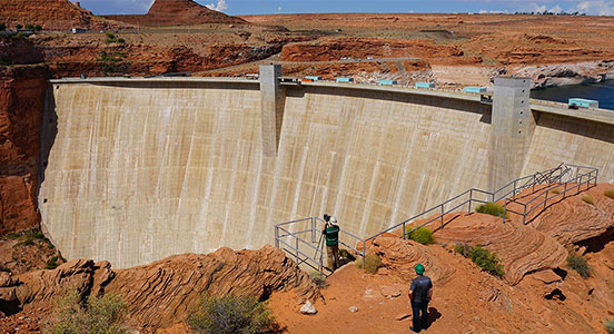 Laser-based technology captures measurements of huge dam site