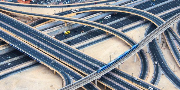 Integrating BIM & GIS data in project design like this road network