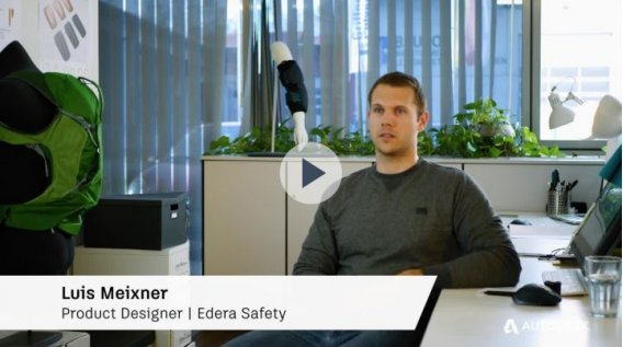 Generative design was a key element in designing a new back protection system. Courtesy of Edera Safety