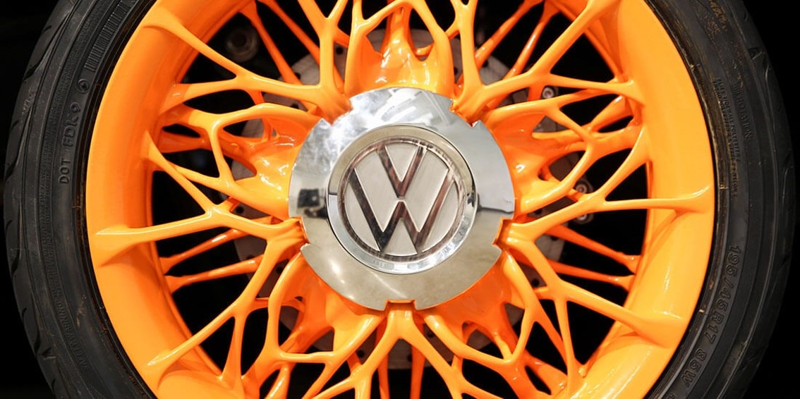 VW rims designed with generative design technology