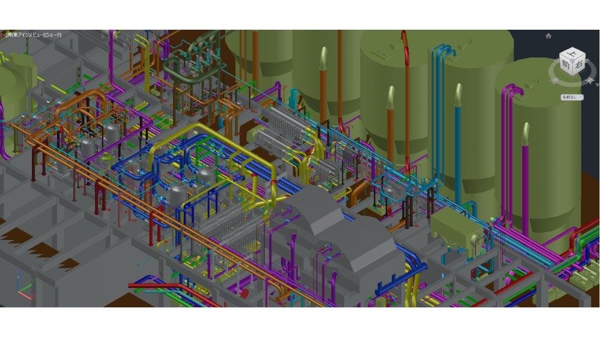 Plant 3D でモデリングした 3D データ