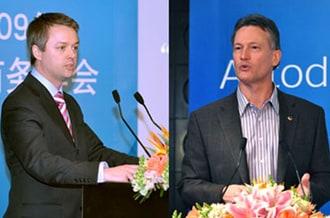 Autodesk 全球ATC高级经理Richard Lane 和 Autodesk 教育事务全球副总裁Joe Astroth博士