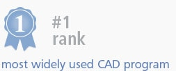 #1 rank most widely used CAD program