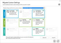 Seamlessly migrate custom settings from previous releases