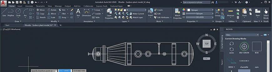 AutoCAD 2020: Paleta de bloques