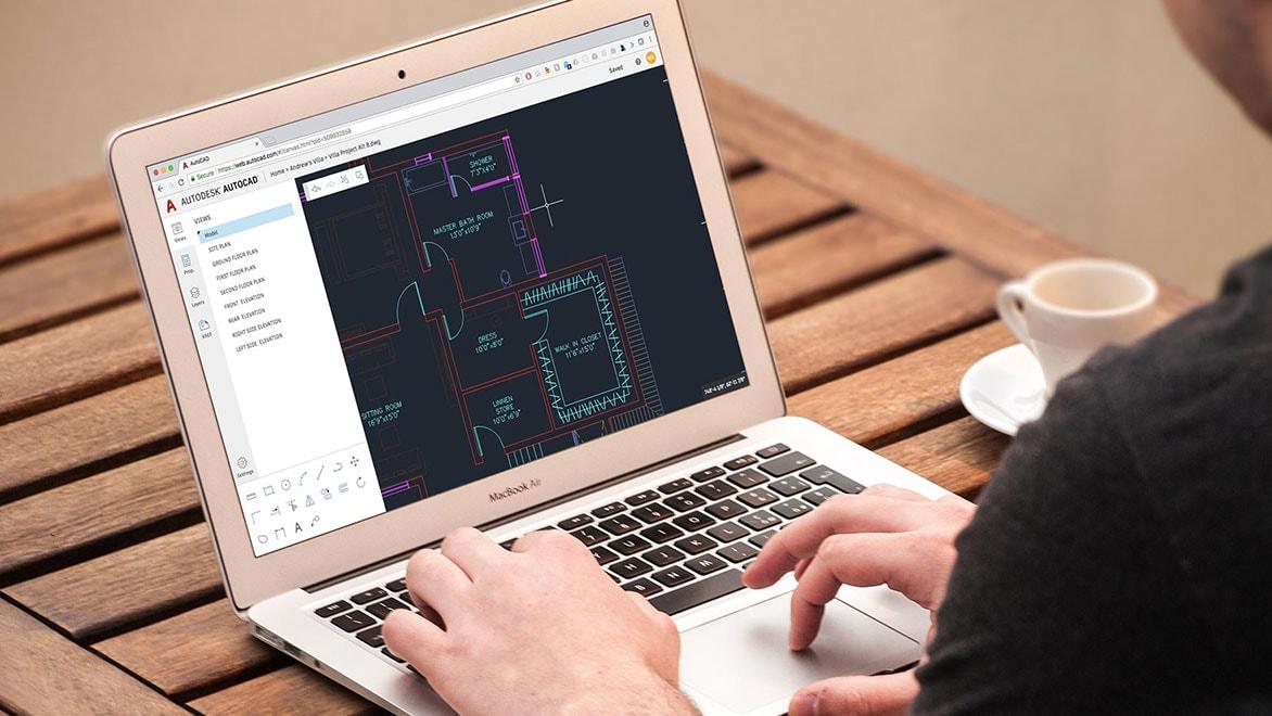 Application Web AutoCAD pour les dessins de CAO en ligne
