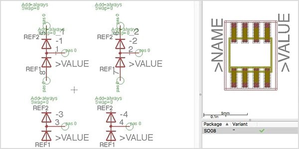 Schematic component creation for circuit design