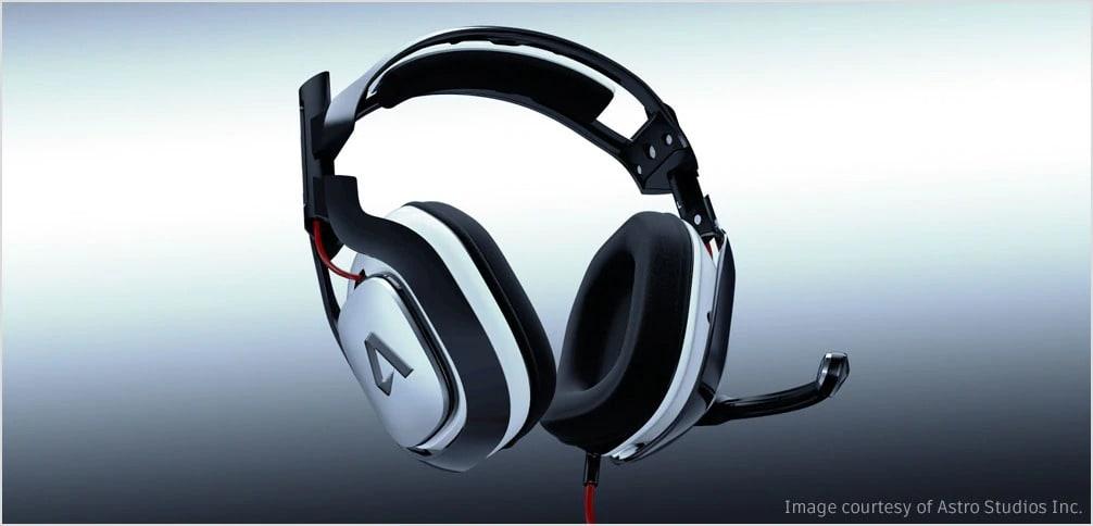 Headphones created with industrial design
