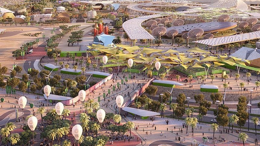 Modelo de Civil 3D de la exposición de Dubái