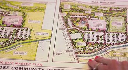 Plan de diseño paisajista para el centro cívico de Montrose