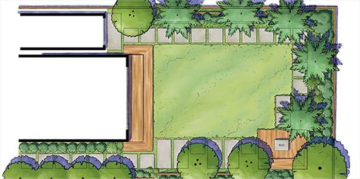 Rendu de paysages résidentiels dans le logiciel Sketchbook Pro
