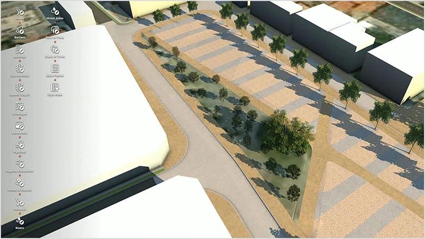 Modelado 3D de árboles en una ciudad