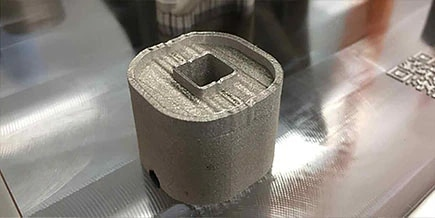 Metal additive print damaged by recoater interference