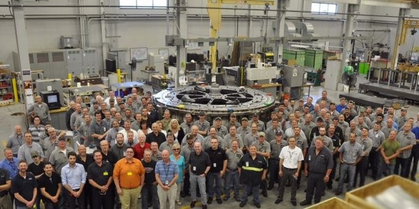This image shows the Paragon D&E manufacturing team.