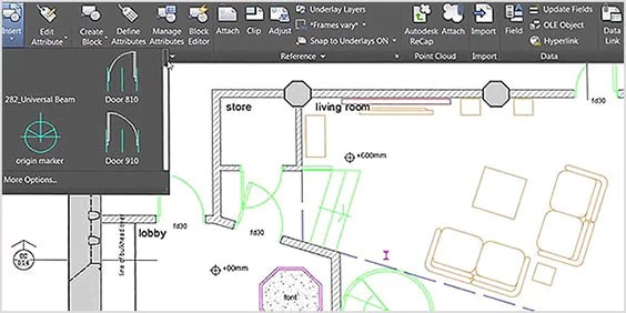 technical drawing in AutoCAD